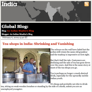 """An Indian Muslim's Blog"" on GlobalPost.com"
